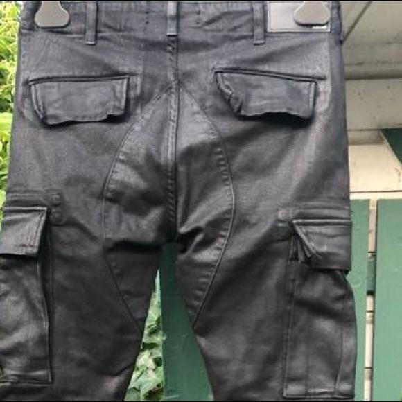 48449dd7991 AMIRI Jeans | New Coated Waxed Black Slim Cargo Nwot | Poshmark